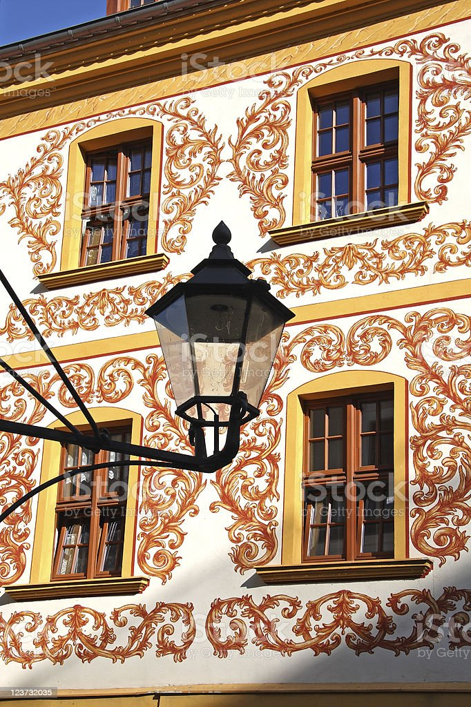 Detail of an old house, G?rlitz, Germany royalty-free stock photo