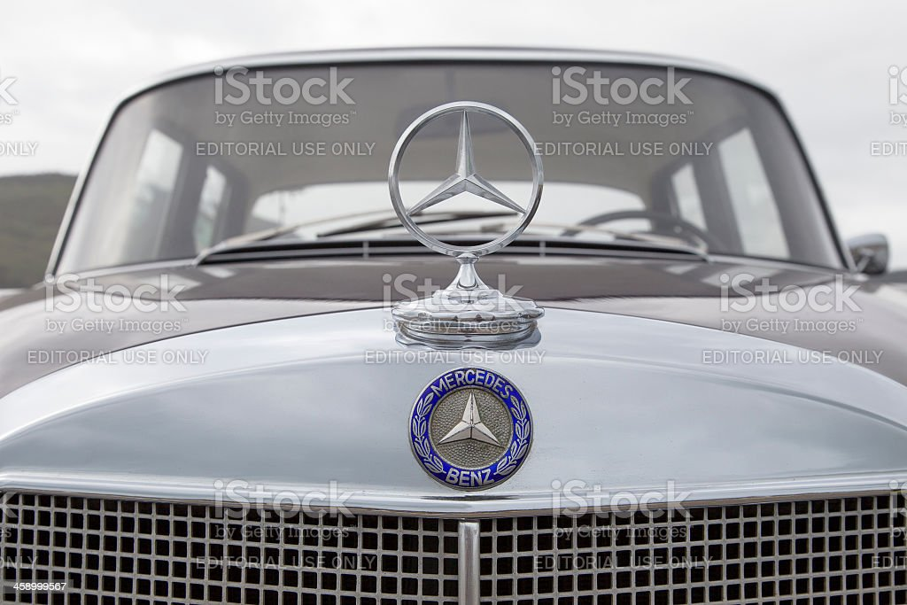 Detail of an old Mercedes car royalty-free stock photo
