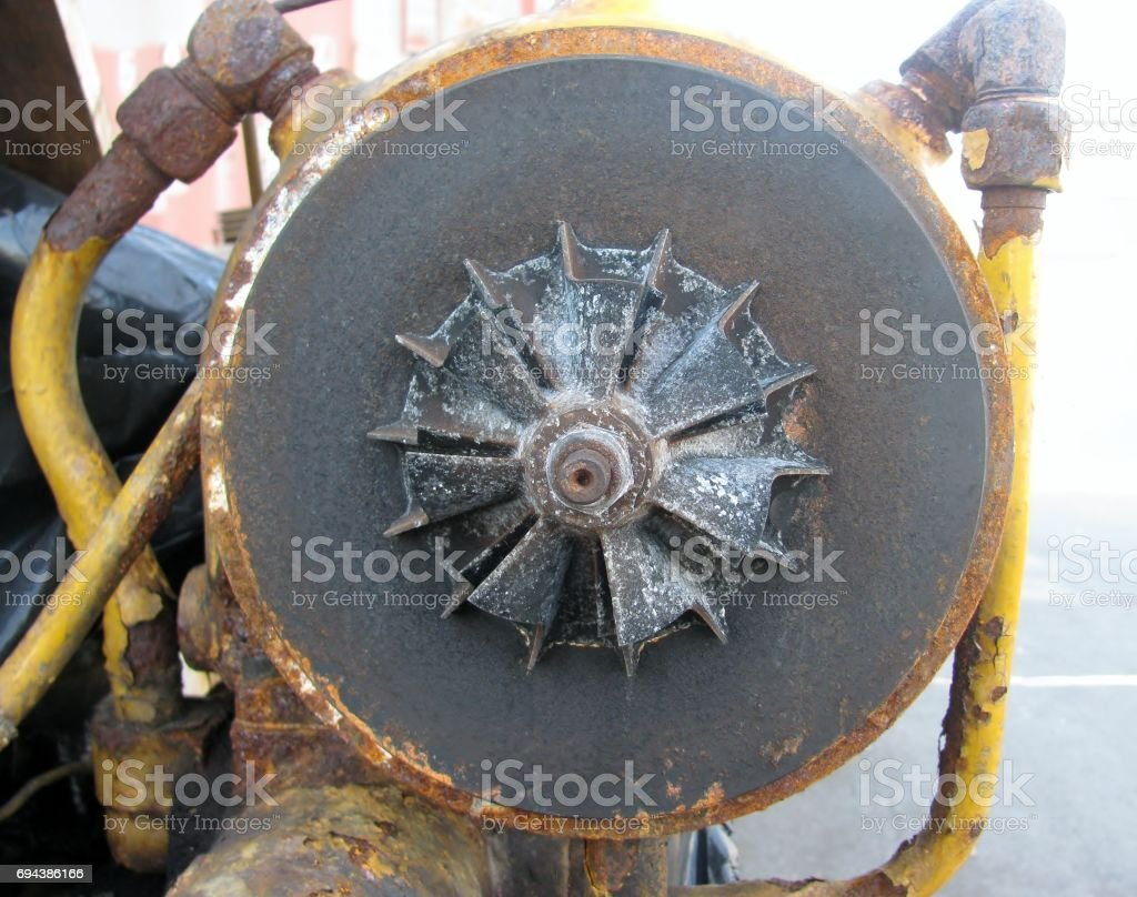 Detail of an old motor stock photo
