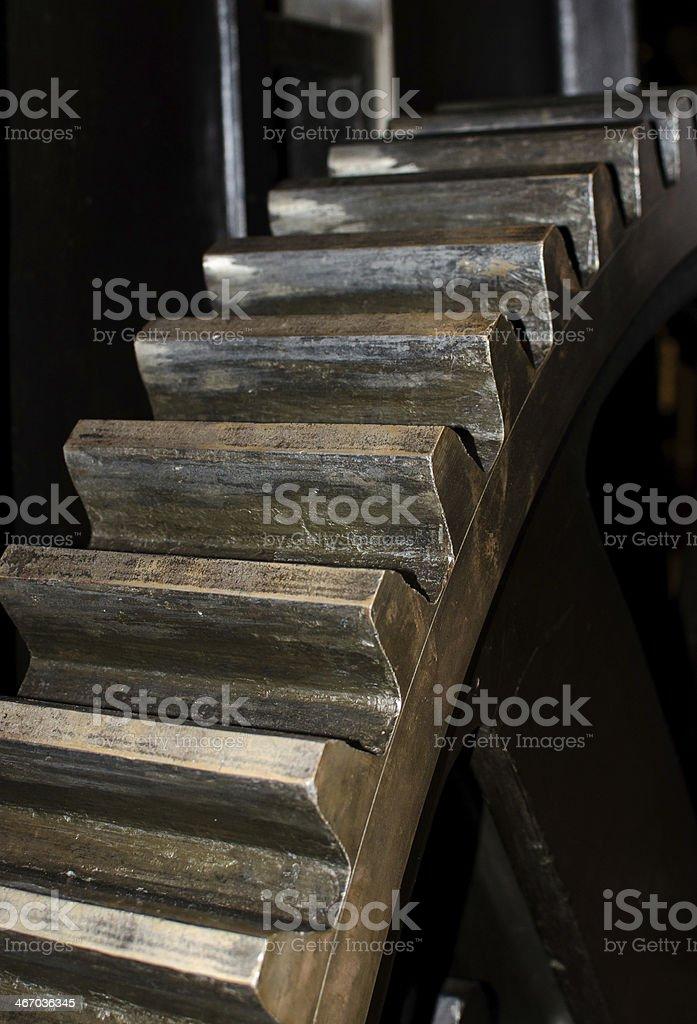 Detail of an old ragwheel stock photo