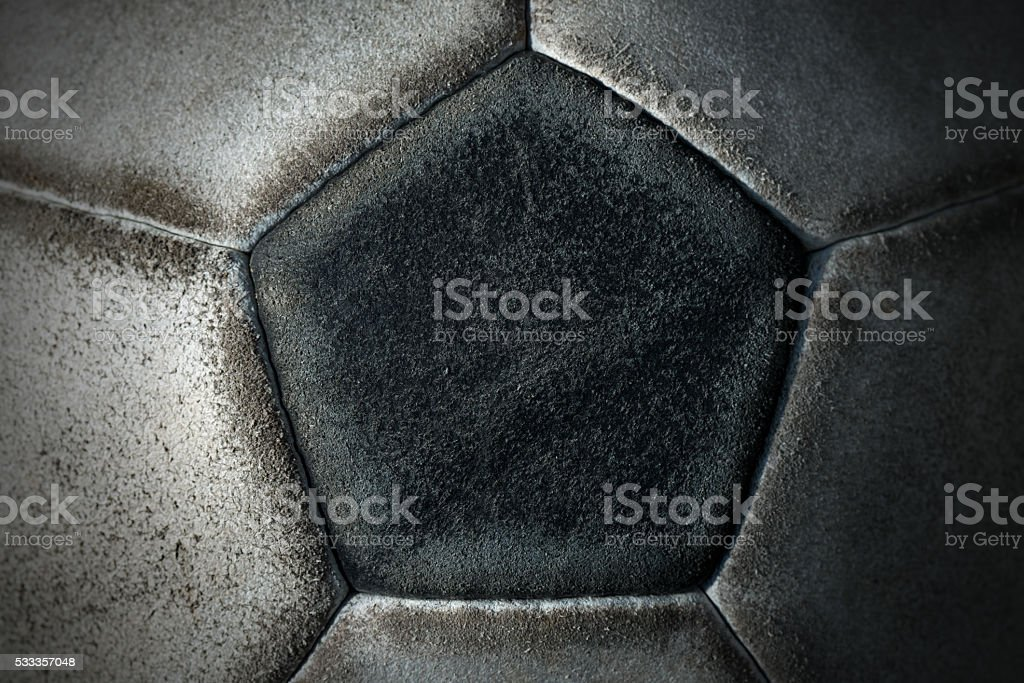 Detail of an Old Soccer Ball stock photo