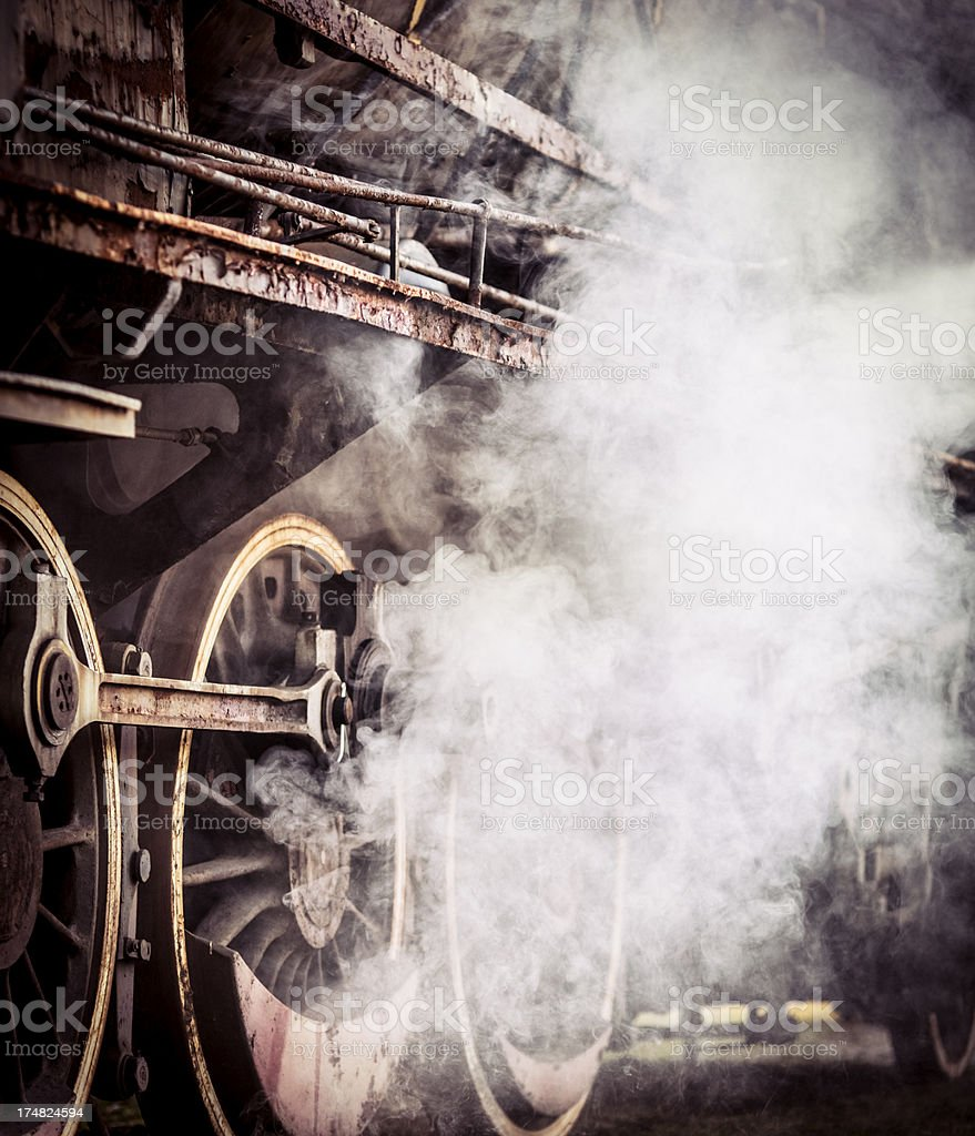 Detail of an old steam train royalty-free stock photo