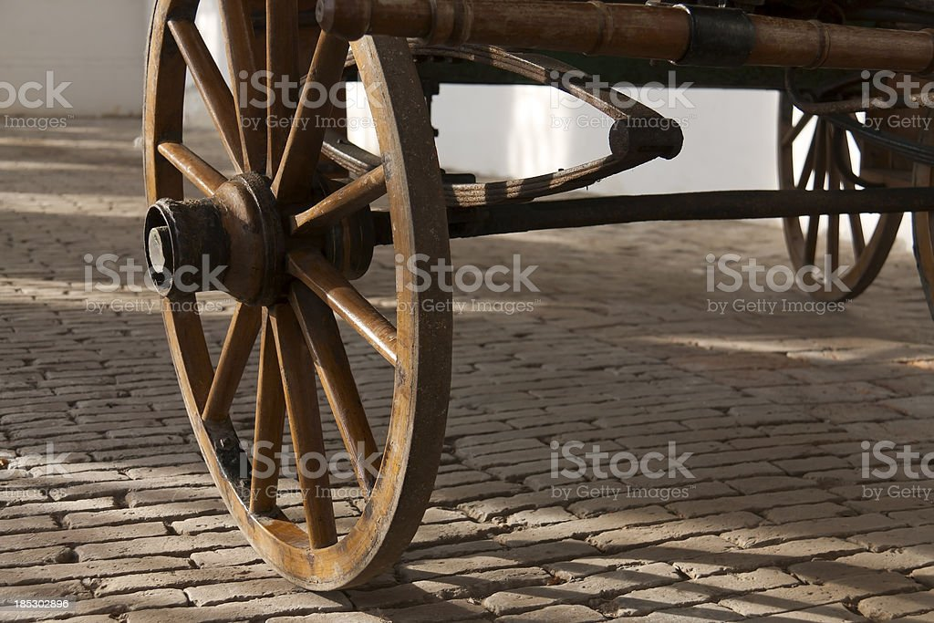 Detail of an old wheel stock photo