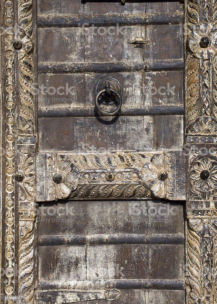 Detail of an old wooden door stock photo