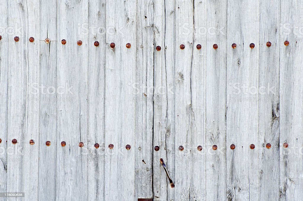 detail of an old wooden door royalty-free stock photo