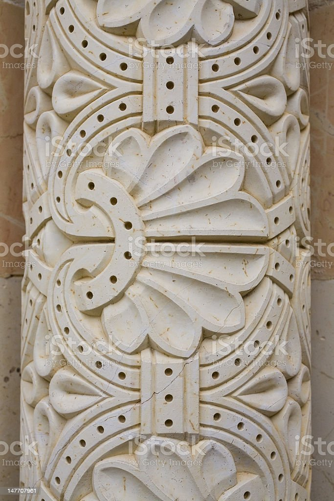 Detail of an ornament on a column royalty-free stock photo