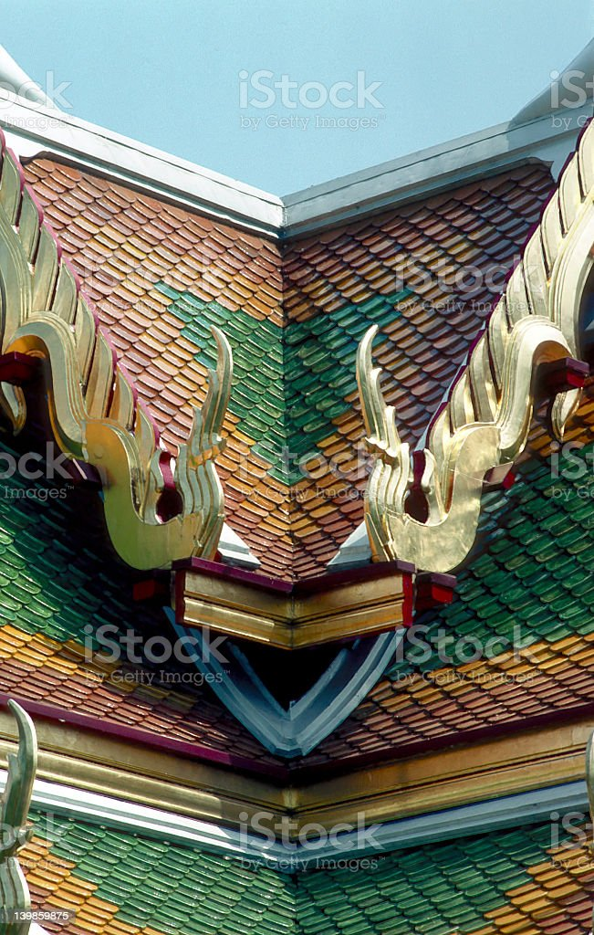 Detail of an ornamented Temple royalty-free stock photo
