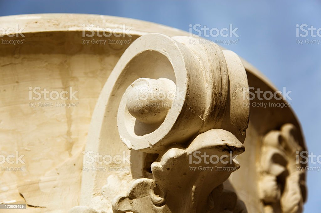 Detail of ancient capital royalty-free stock photo