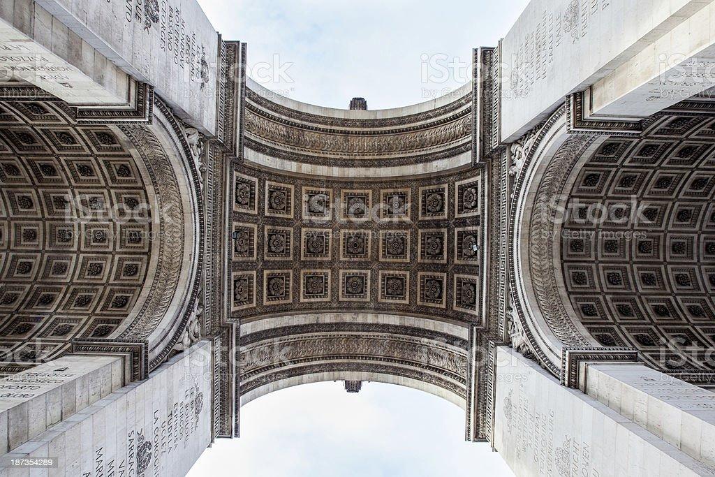 Detail of Arc de Triomphe, Paris royalty-free stock photo