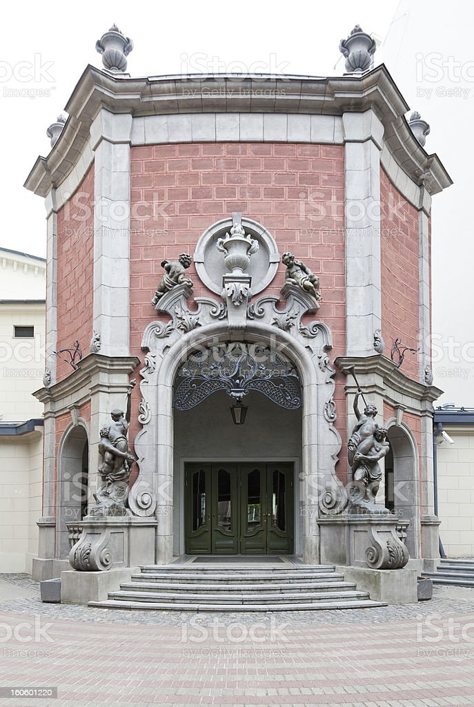 Detail of Art Nouveau style building stock photo