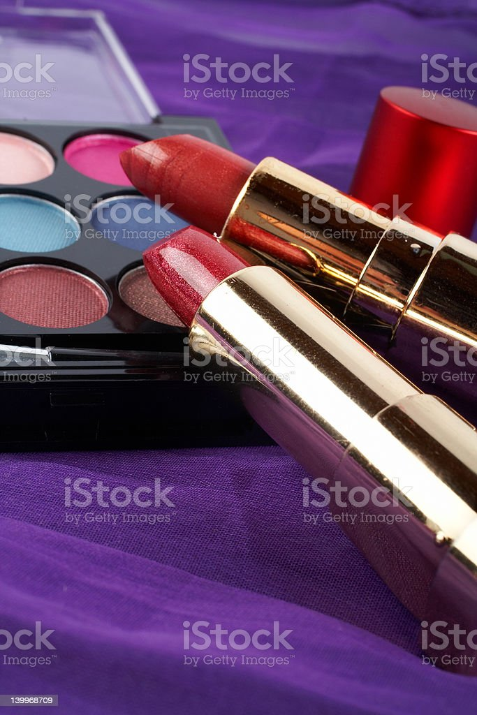 Detail of assortment makeups royalty-free stock photo