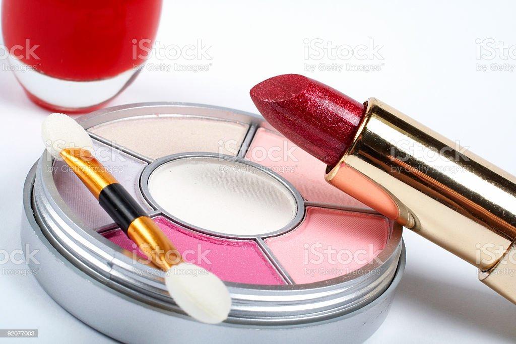 Detail of assortment makeups royalty-free stock photo