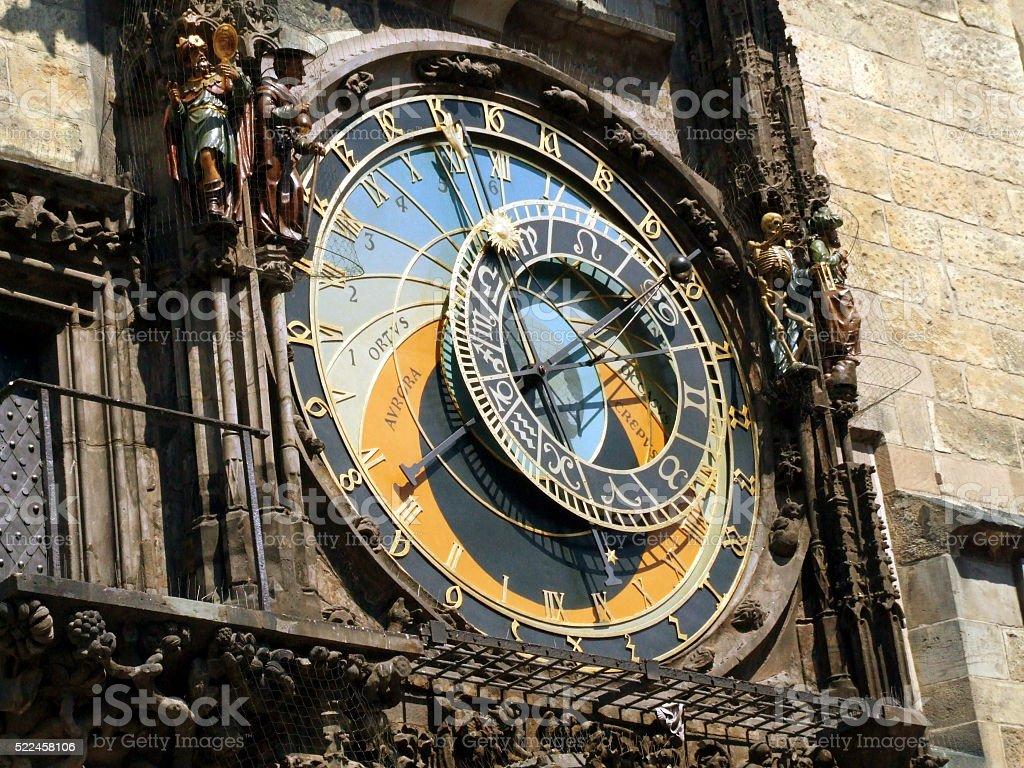 Detail of Astronomical Clock - Czech Republic, Prague stock photo