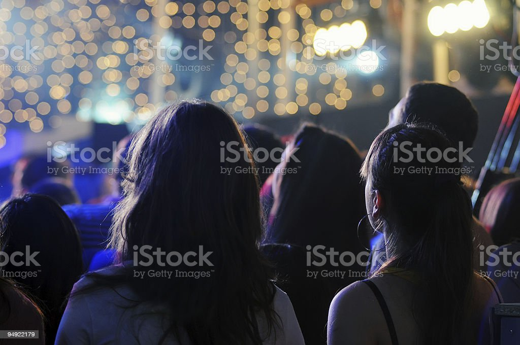 Detail of audience during a concert royalty-free stock photo