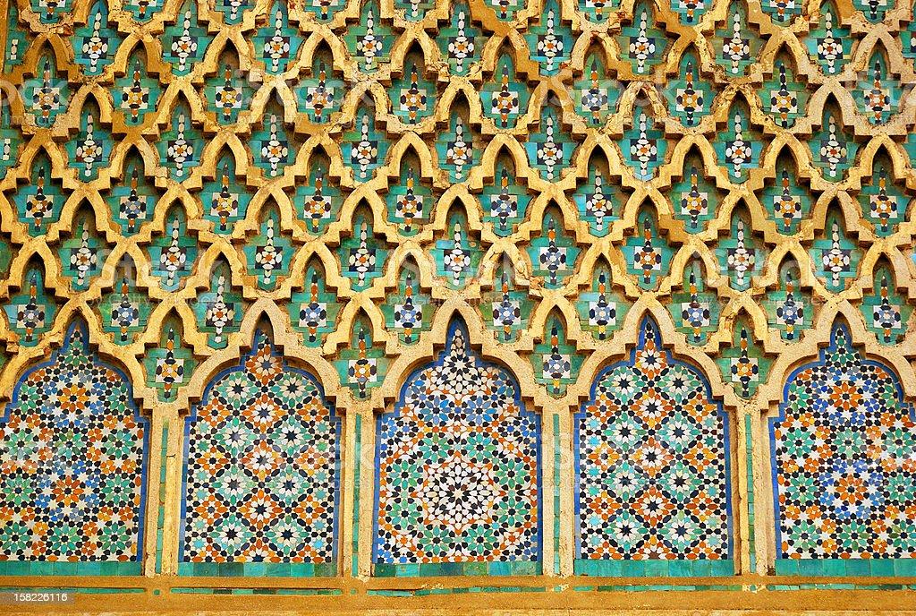 Detail of Bab el-Mansour, Meknes, Morocco royalty-free stock photo