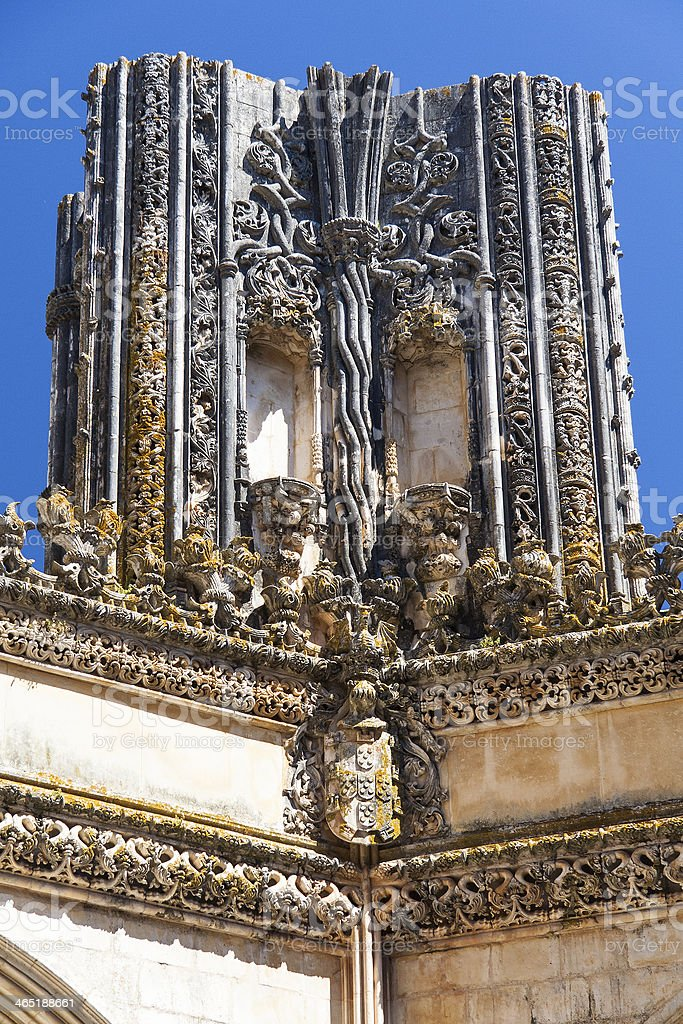 Detail of Batalha monastery, Portugal royalty-free stock photo