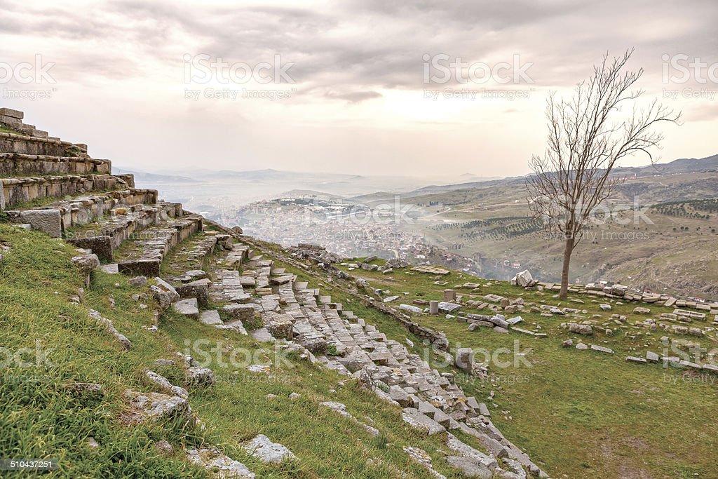 Detail of Bergama ( Pergamon ) stock photo