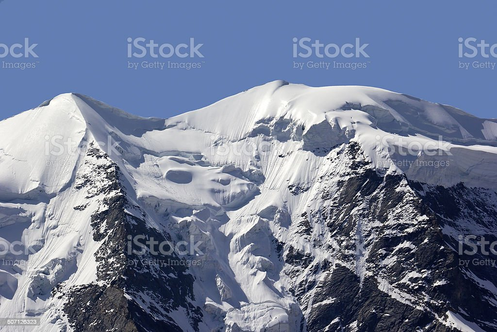 Detail of Bernina Mountain Range stock photo