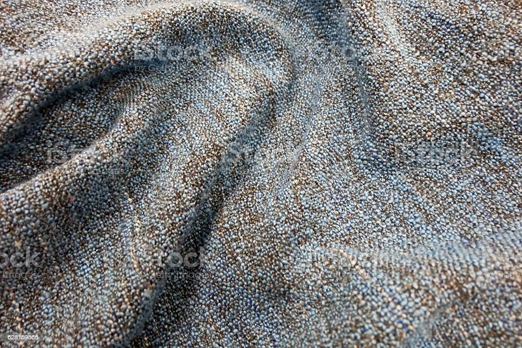 Detail of Blue and Brown Blanket Textile Texture stock photo