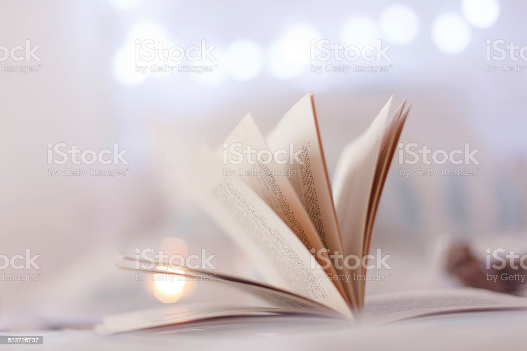Detail of book leaves stock photo