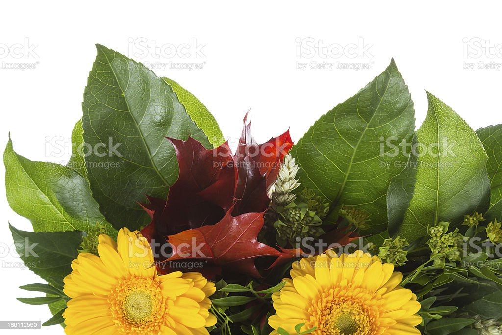 Detail of Bouquet with autumn decoration royalty-free stock photo