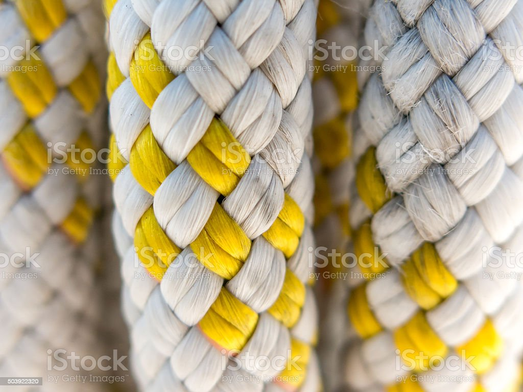 Detail of braided rope for boating stock photo