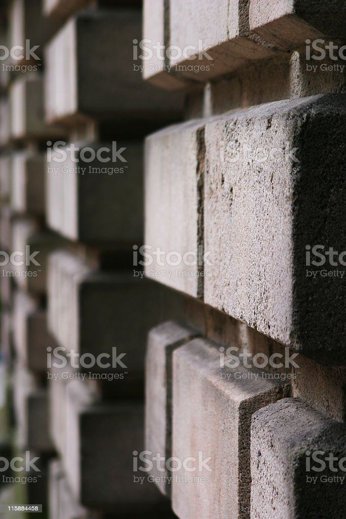 Detail of brickwork of Victorian stately home stock photo