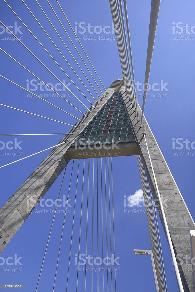 Detail of bridge royalty-free stock photo