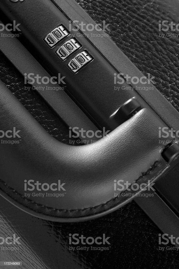 detail of brief case royalty-free stock photo