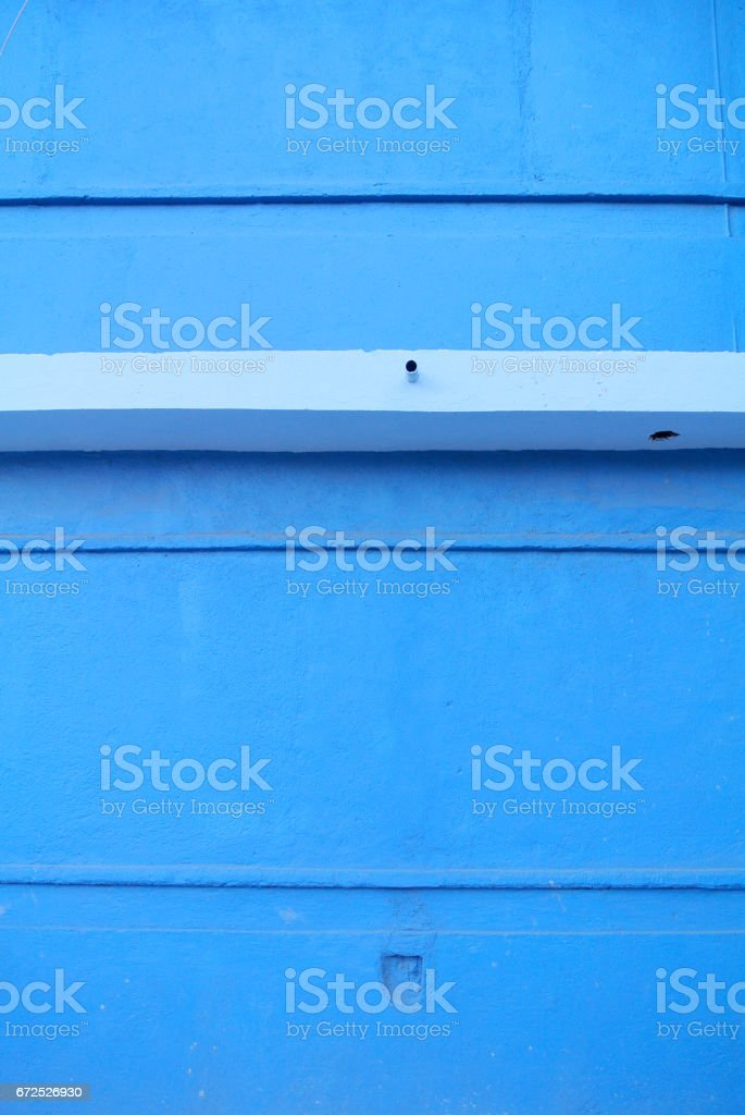detail of bright blue facade stock photo