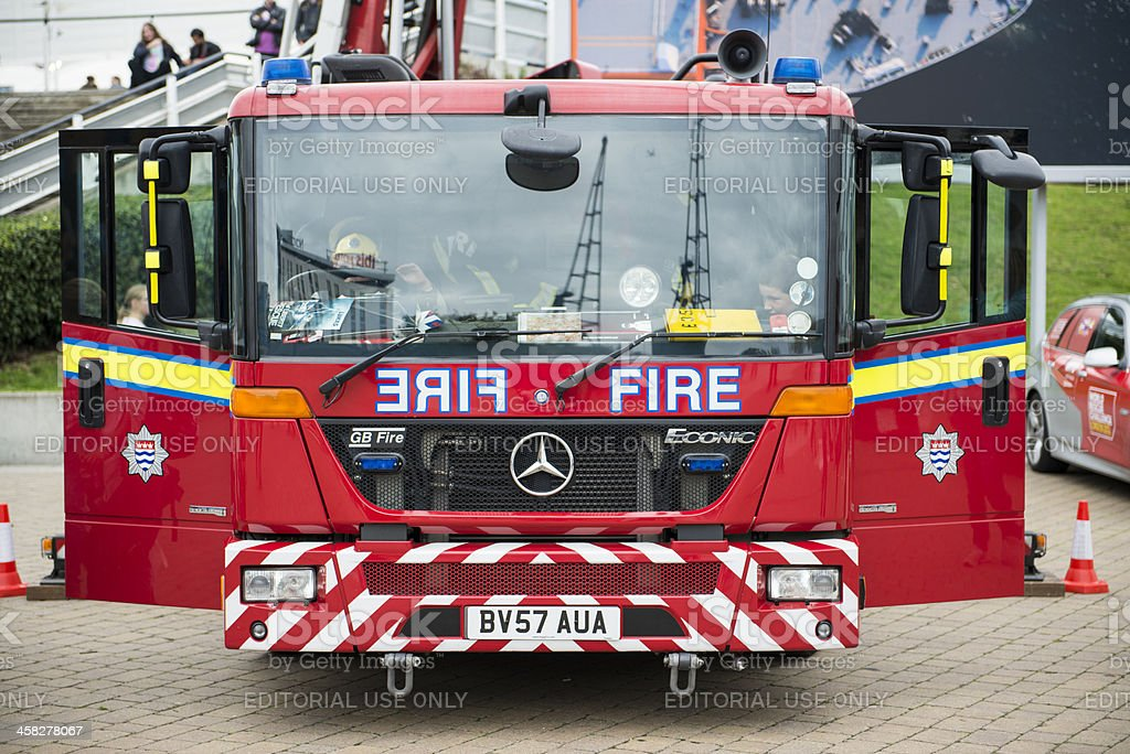 Detail of British fire engine. royalty-free stock photo