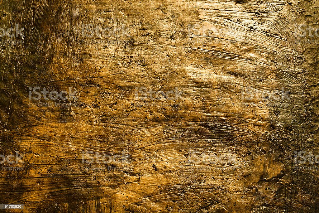 Detail of brushed bronze-colored wall royalty-free stock photo