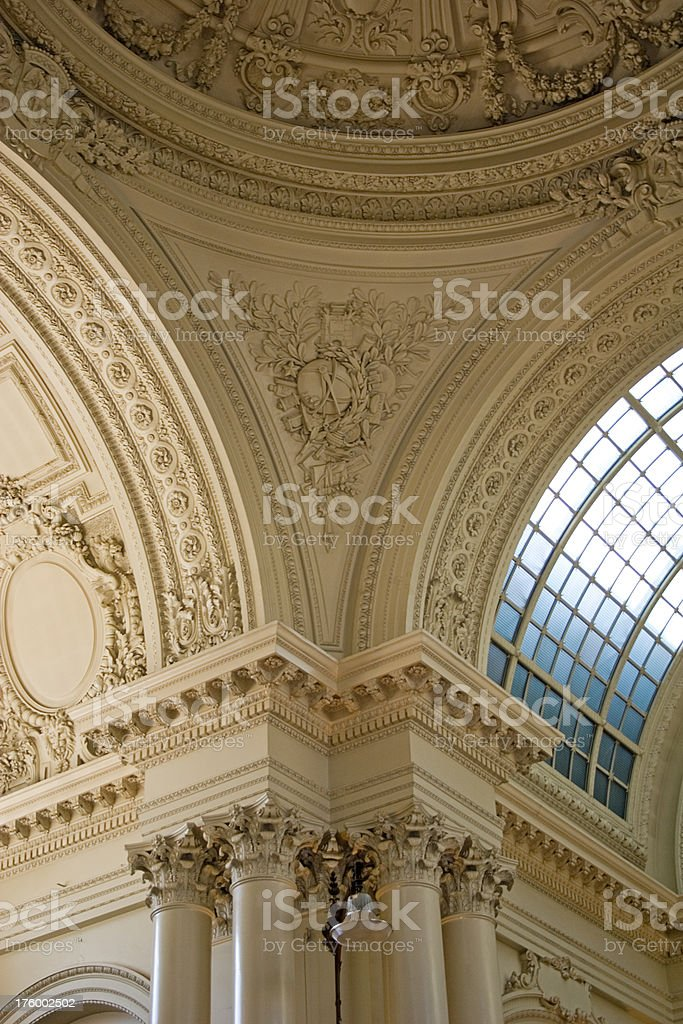 Detail of Brussels Stock exchange interior stock photo