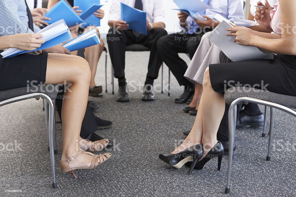Detail Of Businesspeople Seated In Circle royalty-free stock photo
