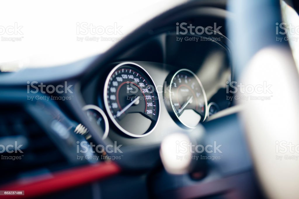 Detail Of Car Dashboard stock photo