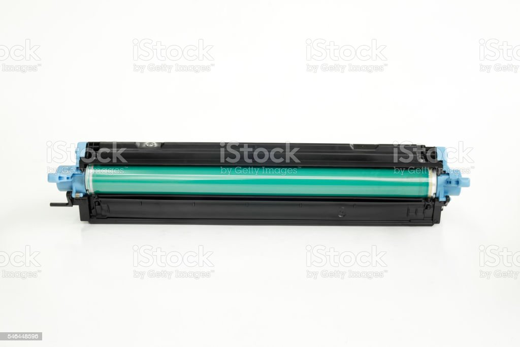 Detail of cartridge on white isolated background stock photo
