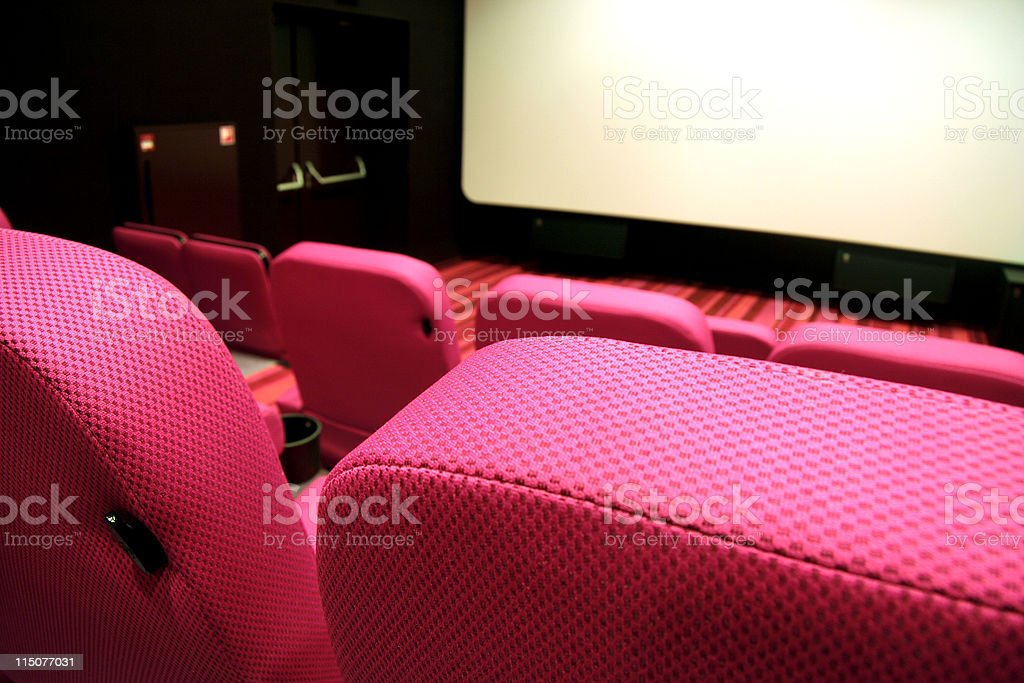 Detail of chairs in movietheatre royalty-free stock photo