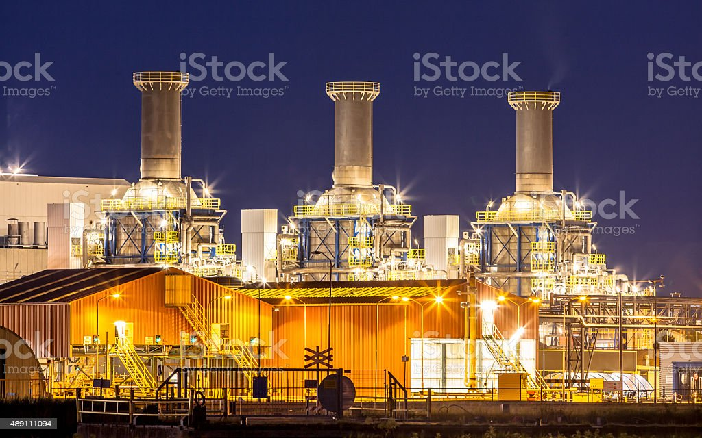 Detail of chemical industry stock photo