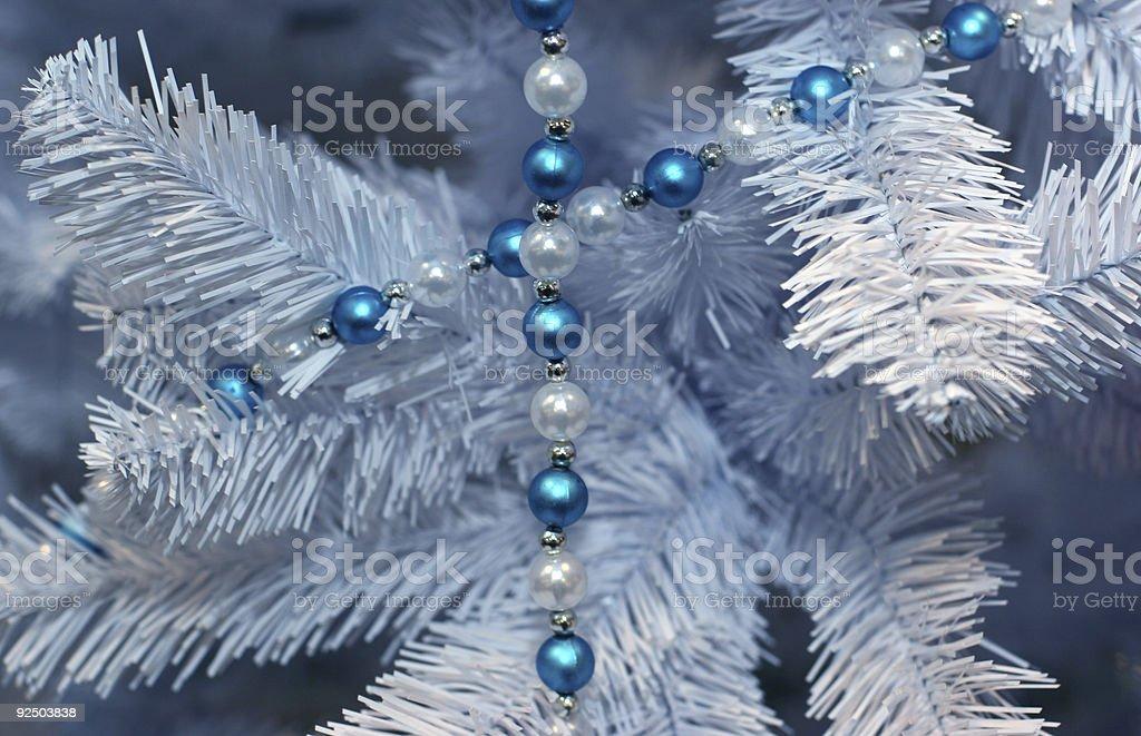 Detail of christmas tree royalty-free stock photo