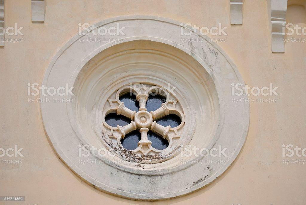 Detail of Church of St. Jerome in Herceg Novi stock photo