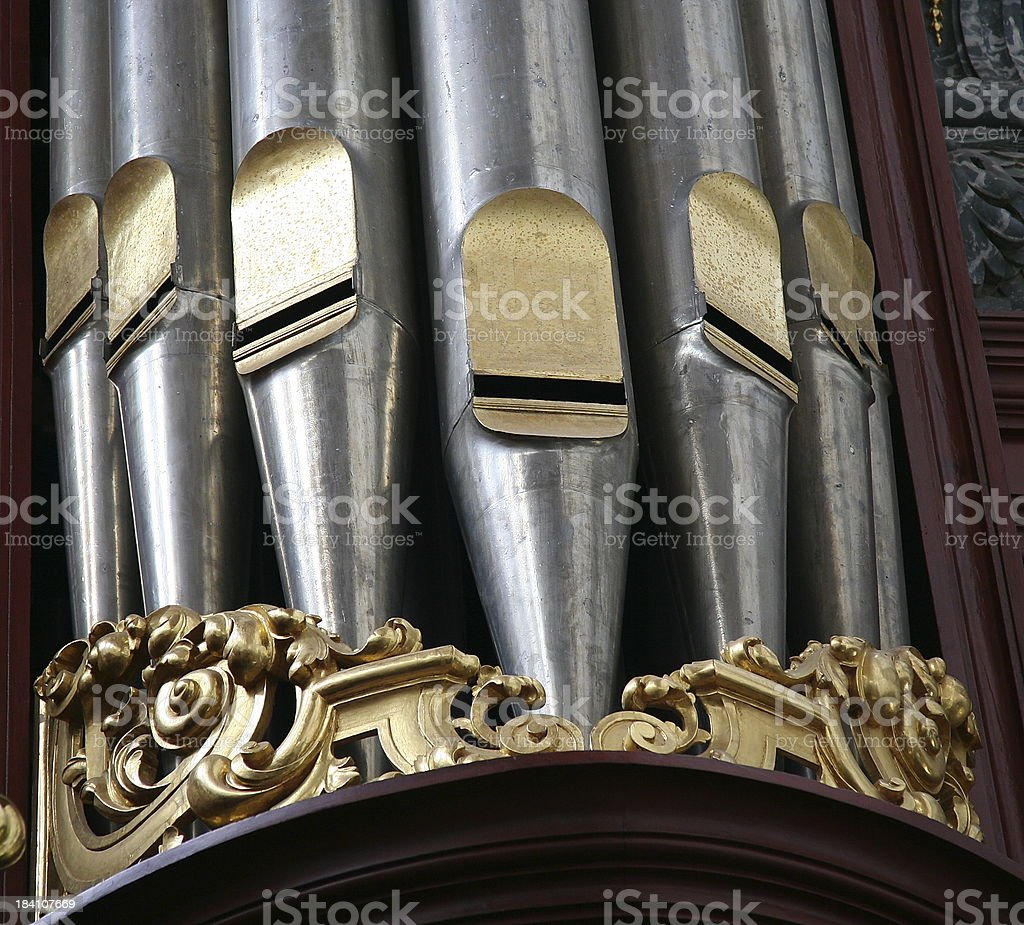 Detail of church organ stock photo