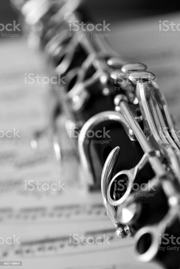 Detail of clarinet closeup stock photo