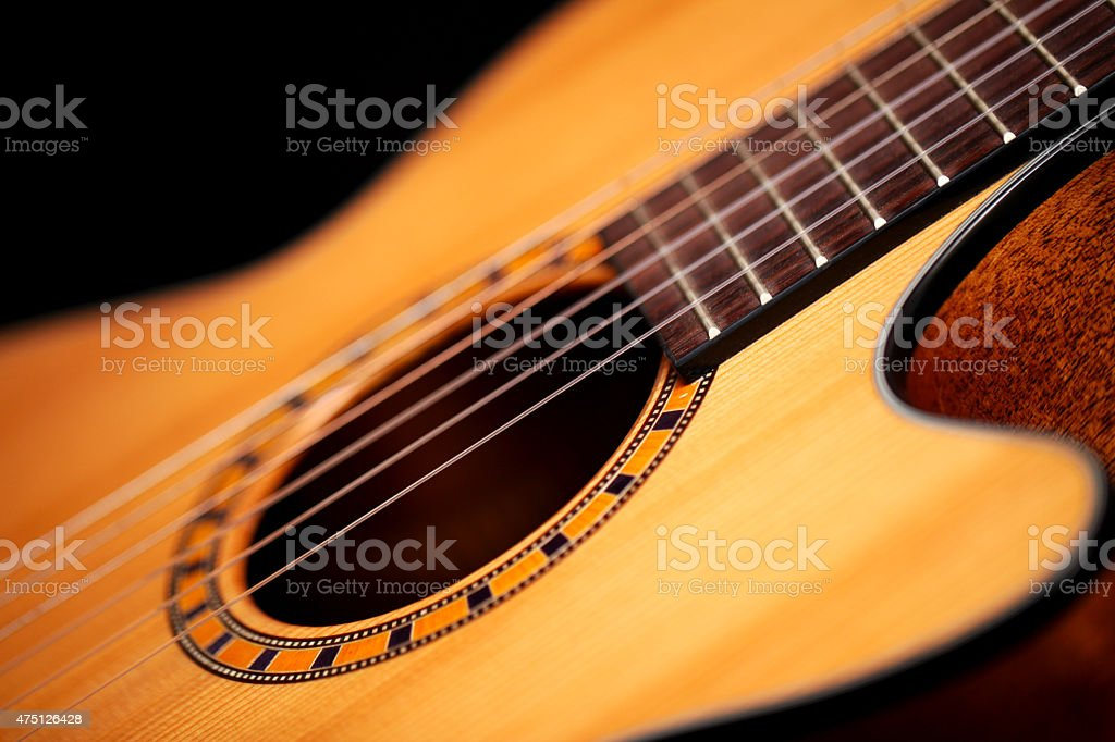 Detail Of Classical Guitar stock photo