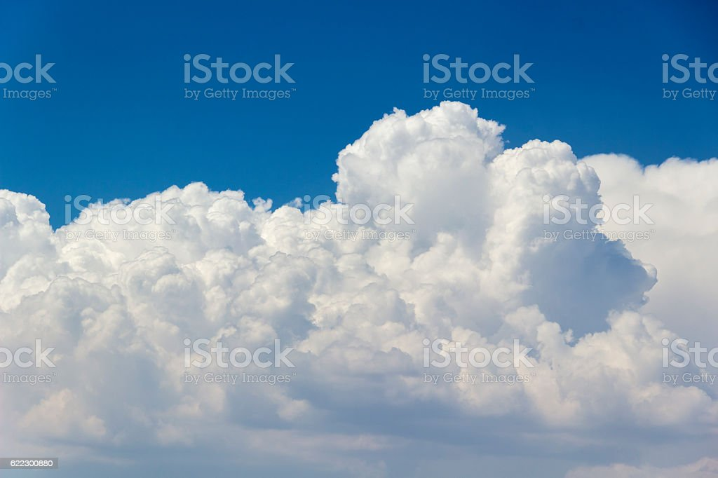 Detail of clouds at 3900 meters above sea level stock photo