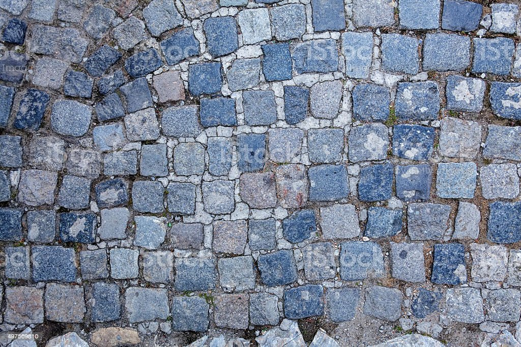 detail of cobblestone path stock photo