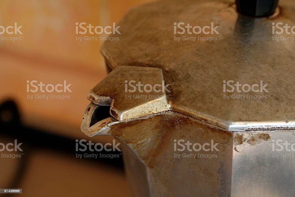 Detail of coffee maker royalty-free stock photo