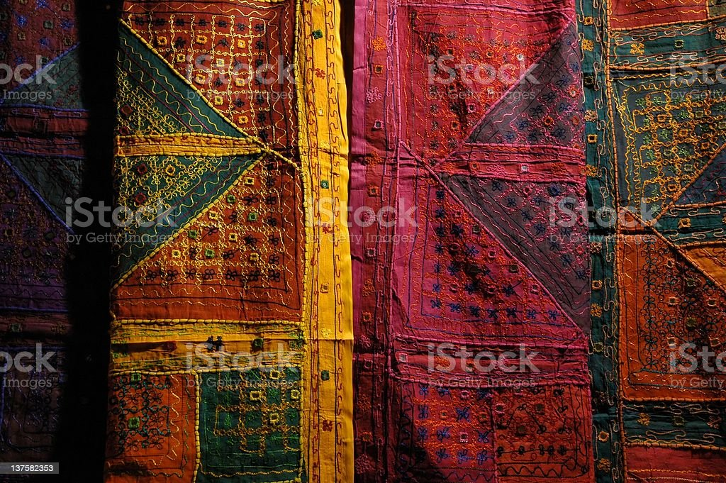 detail of colored natural fabric background texture royalty-free stock photo