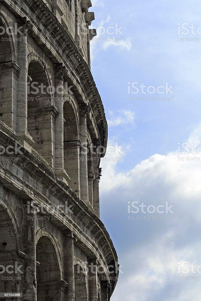 Detail of Colosseum in Rome royalty-free stock photo