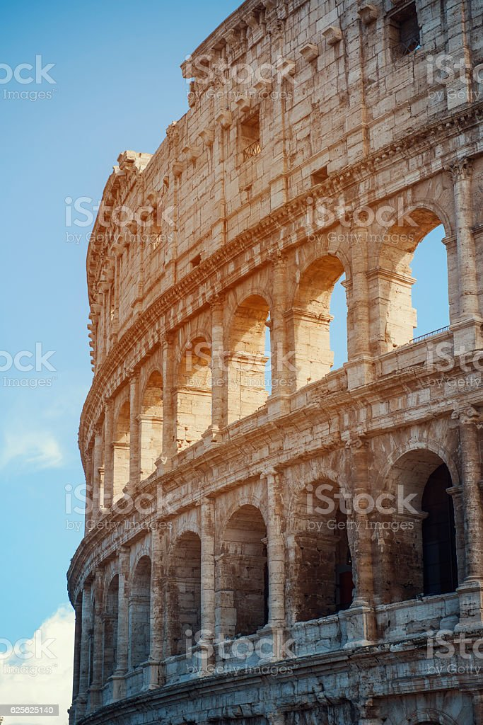 Detail of Colosseum stock photo