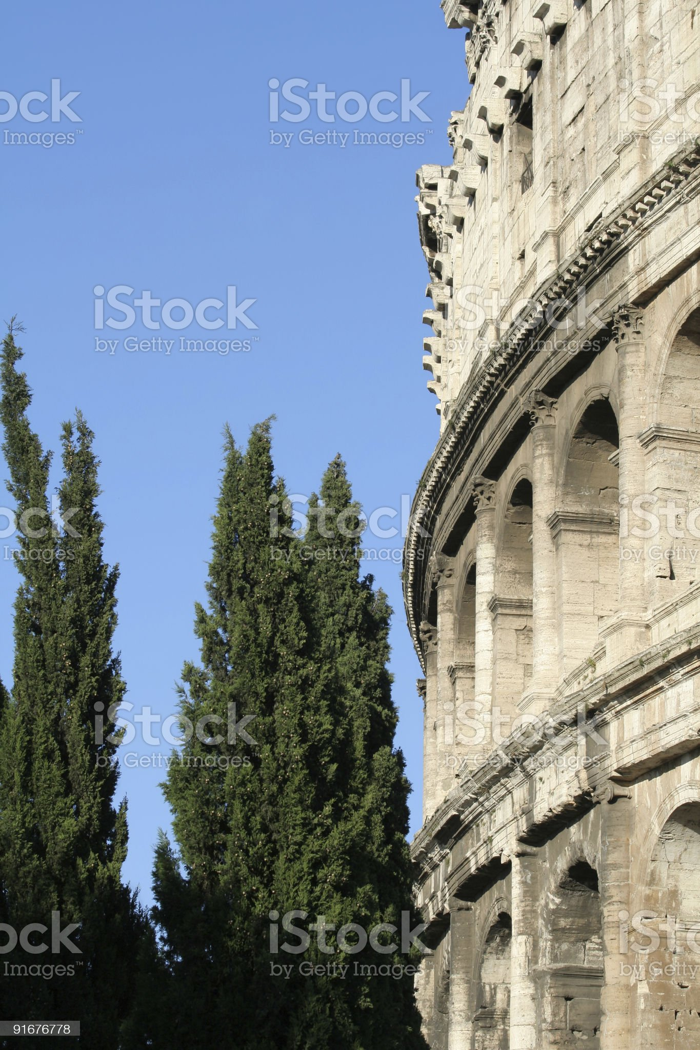 Detail of Colosseum royalty-free stock photo